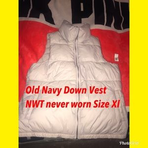 Old Navy Light Tan down vest